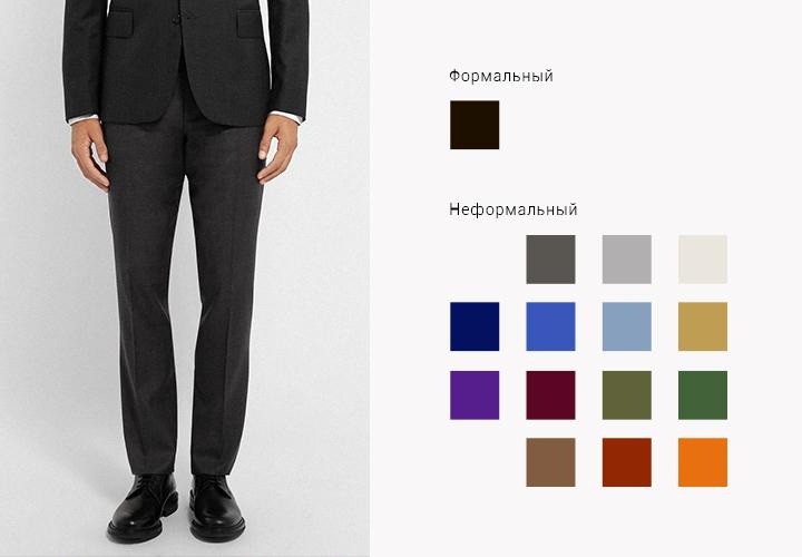 fbe1a09f Мужской гид: костюм, полуботинки, носки и ремень/Гардероб/Стиль ...