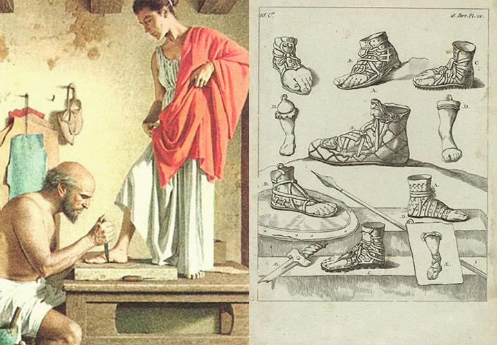 древнегреческие сандалии рисунок расскажем покажем