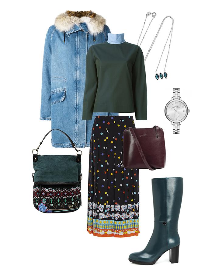 С чем носить сапоги Easy by Loriblu e75612e7 сине-зеленые. Собираем весенний гардероб 2017